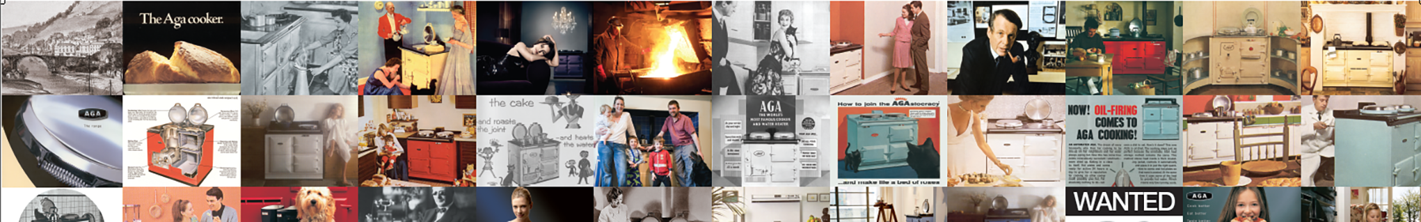 Montage of AGA advertising images