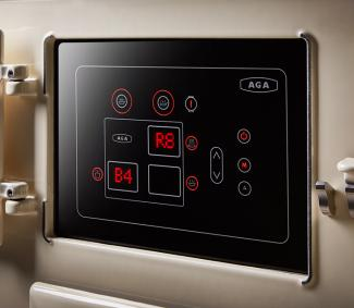 Control panel on the AGA eR7 range cooker