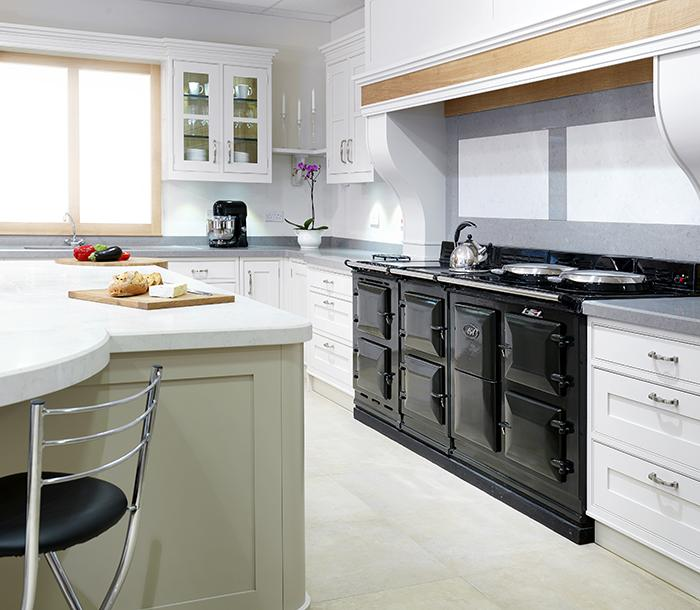 AGA 4-oven cooker in black