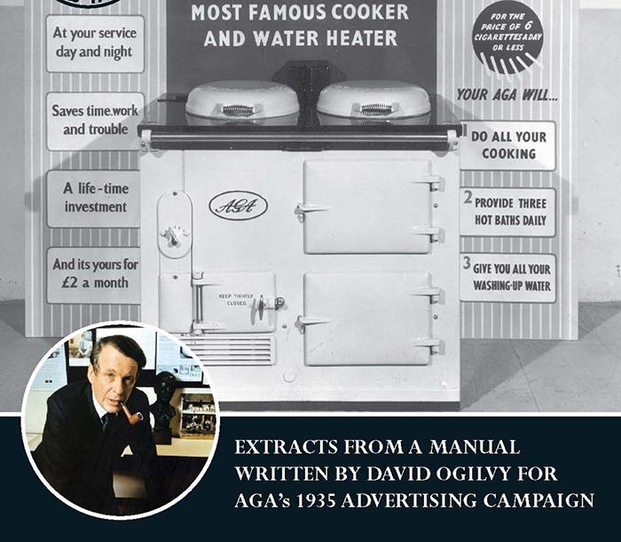 David Ogilvy advertising campaign for AGA